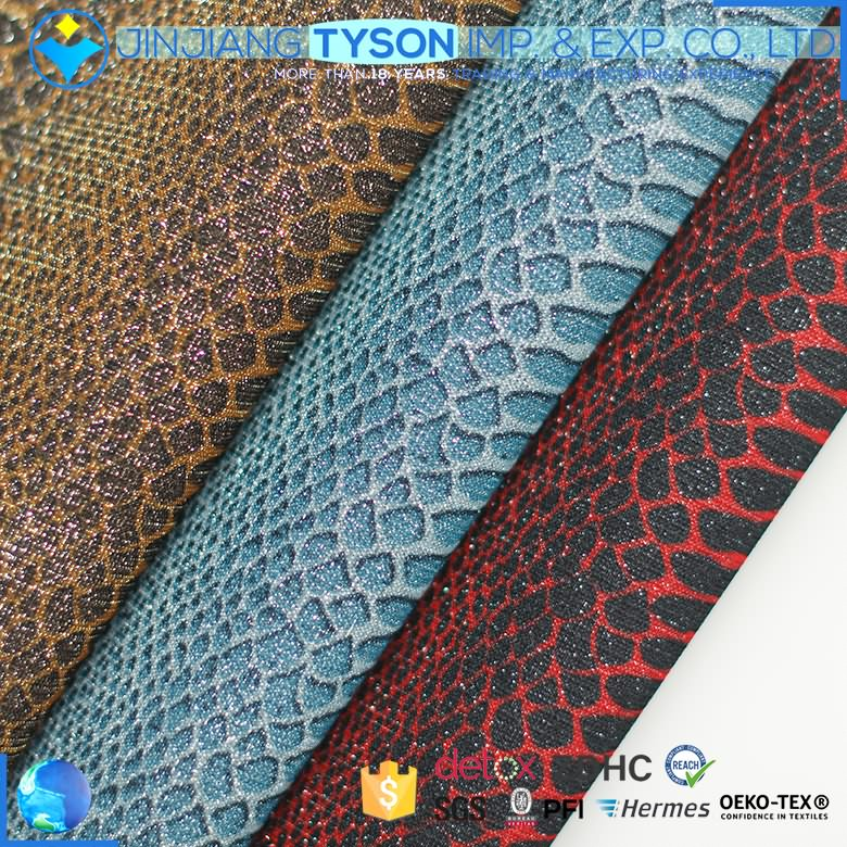 Modern design animal print factory synthetic glitter pu leather