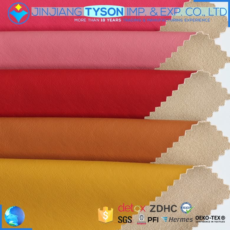 Eco-friendly woven handmade 0.6mm PU leather material for clothes making