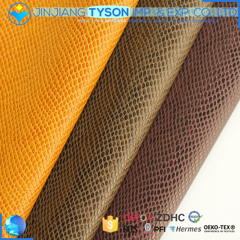 Wide varieties artificial synthetic waterborne embossing faux pu leather Featured Image