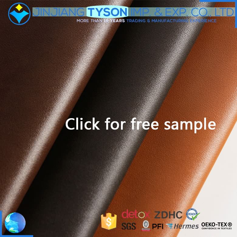 China manufactures ECO-friendly 0.9mm chunky pu synthetic leather for handbag