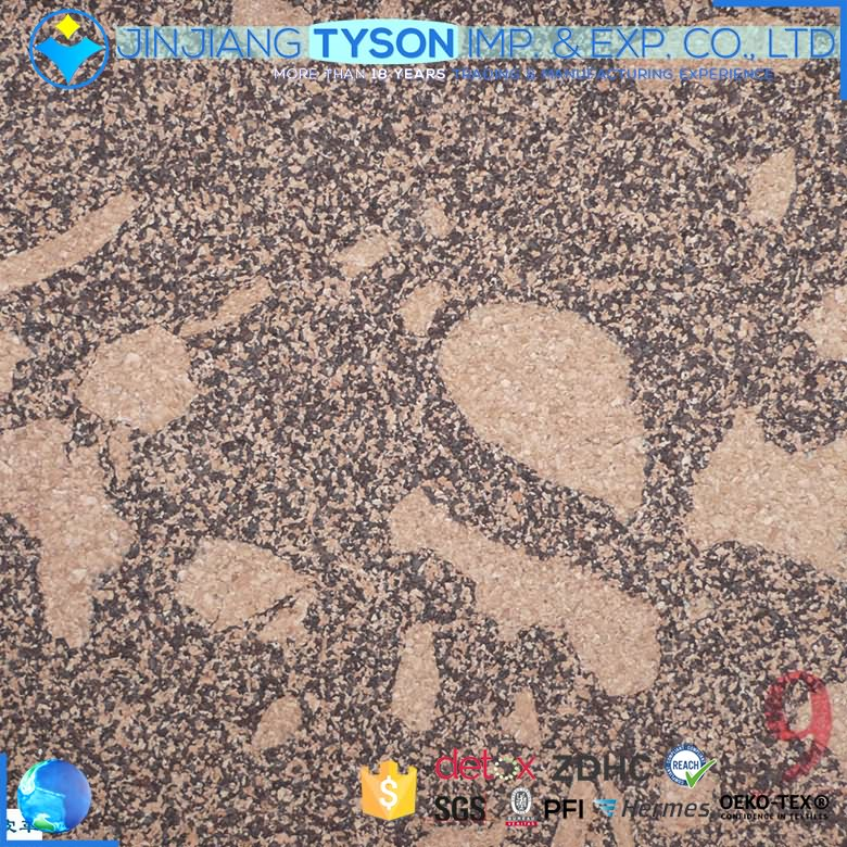 Factory customized natural cork synthetic leather for shoes