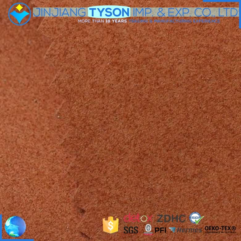 Factory waterproof nonwoven pu microfiber suede synthetic leather