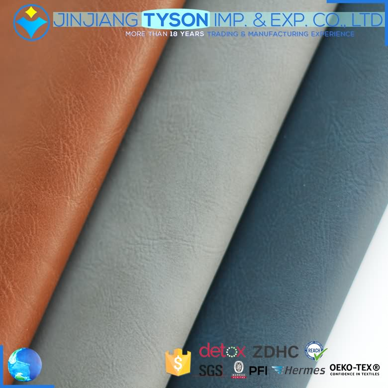Modern elastic water borne knitted synthetic artificial leather pu