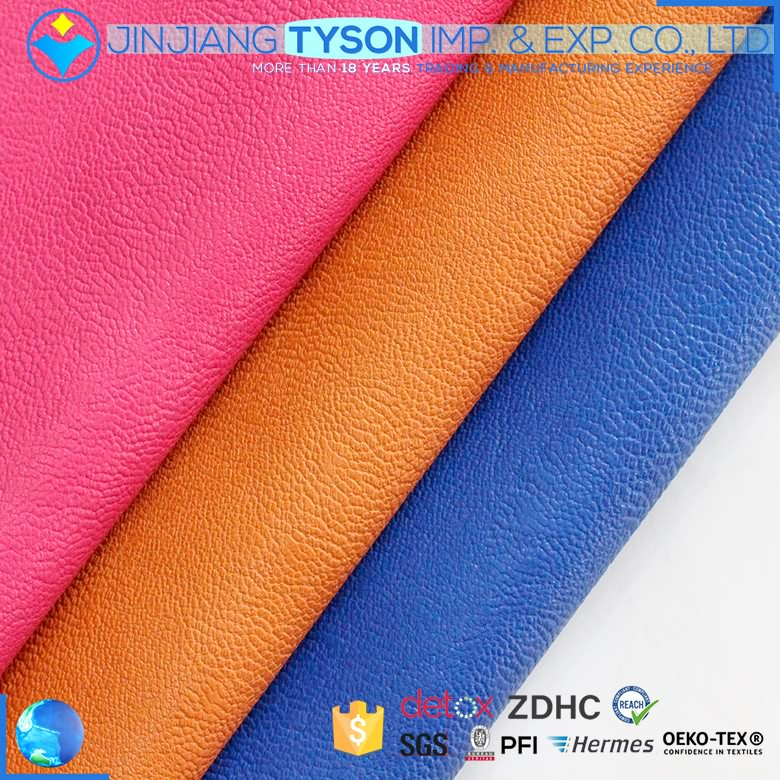 New design Eco-friendly embossed 0.9mm thickness faux leather fabric