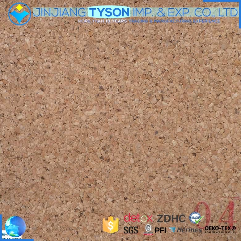 Newest real wood surface synthetic natural cork leather sheet
