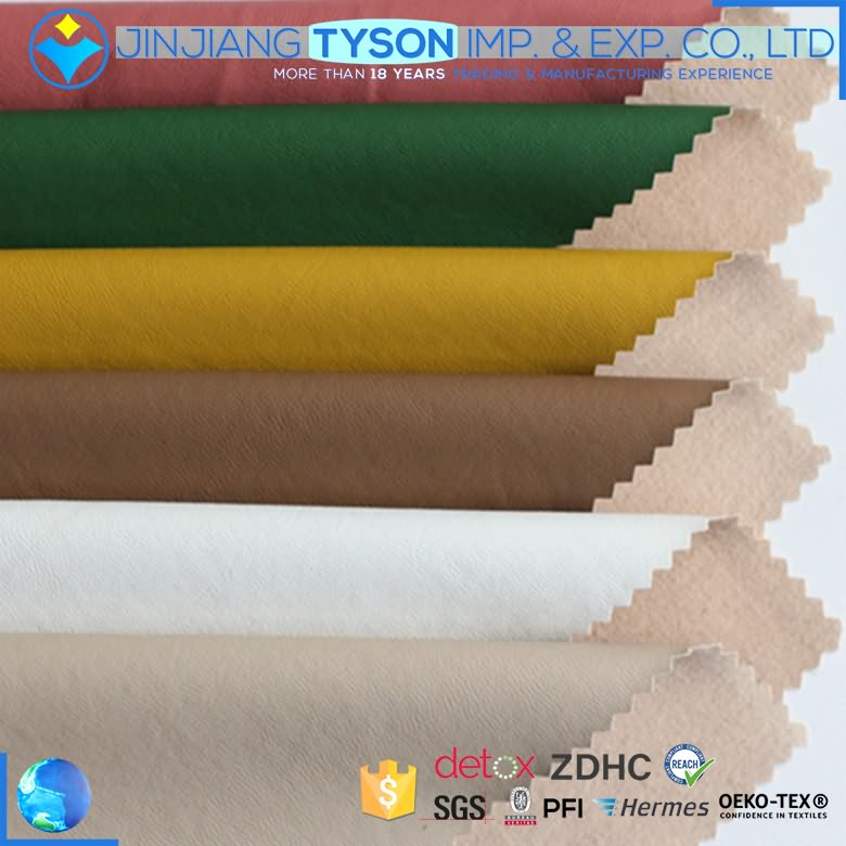Wholesale price 0.4mm thickness pu rexine clothing leather fabric