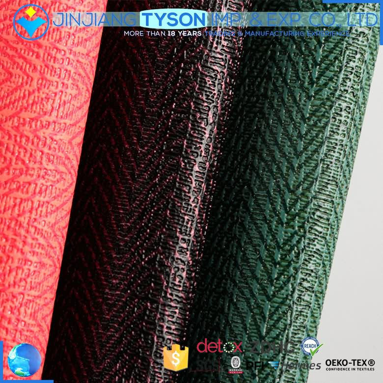 Wholesale elastic embossed printed pvc synthetic leather for wall decorate