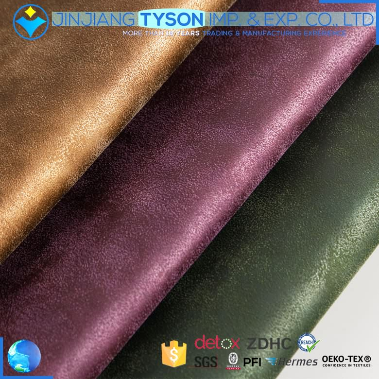 Scuff resistance pu synthetic leather fabric for shoes