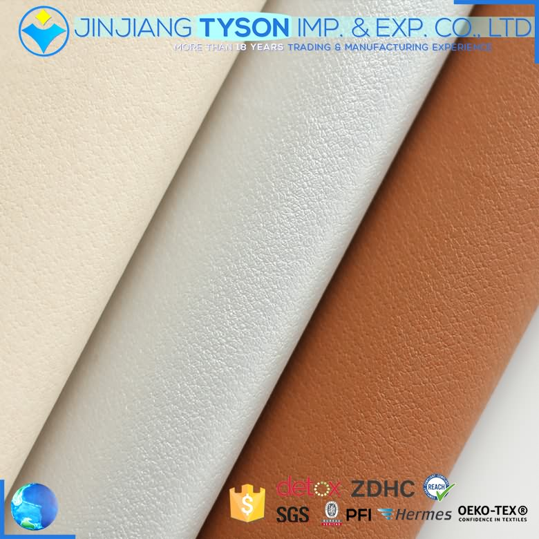 Elegant soft synthetic pu artifical waterborne fabric faux leather for shoes