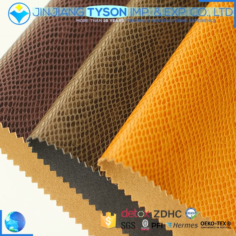 Wide varieties artificial synthetic waterborne embossing faux pu leather