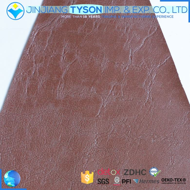 China factory fashion embossed pattern pvc synthetic leather for bags