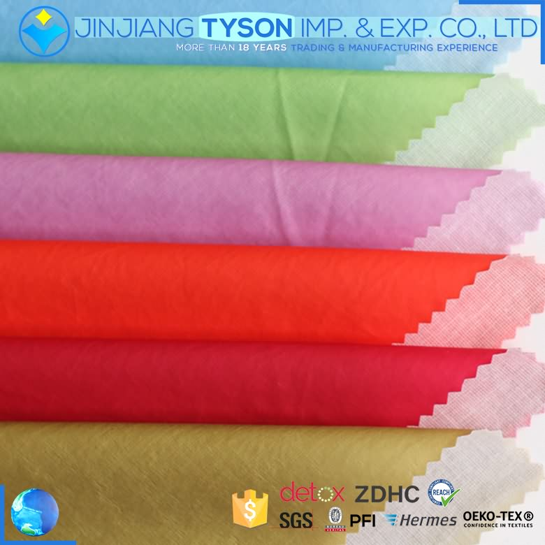 Multicolor 0.2mm thickness thin pu coated finished leather fabric for clothing making