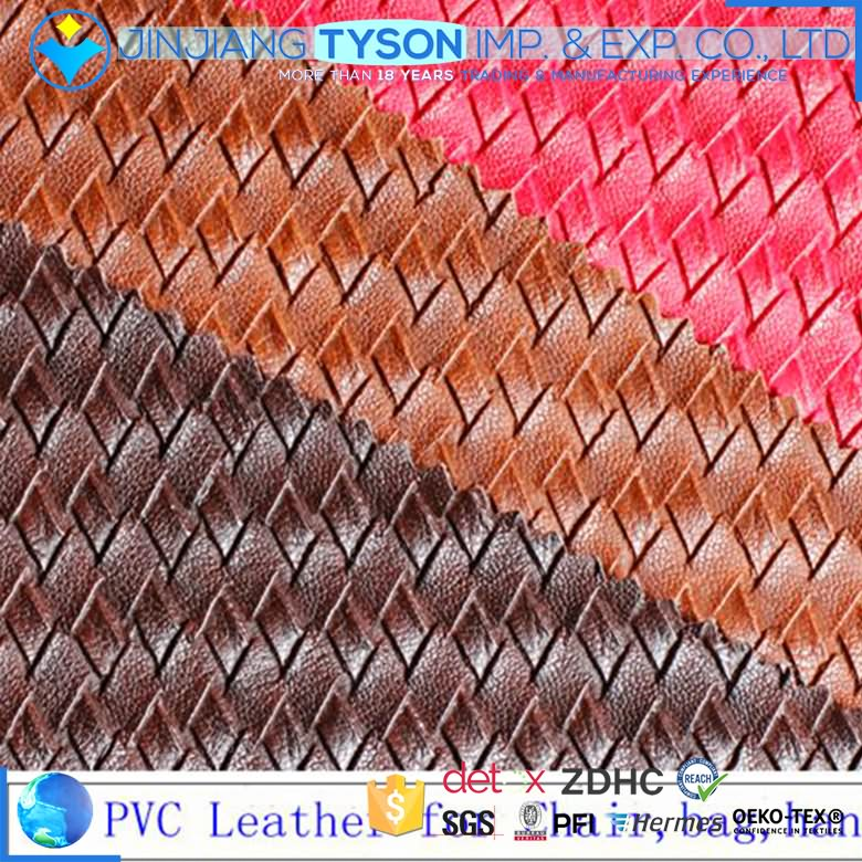 Multicolor woven backing pvc material leather for bag making