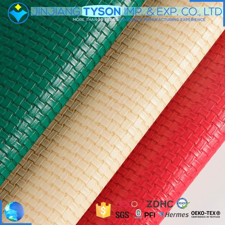 Custom made Anti-Mildew knitted pu leather material for shoes making