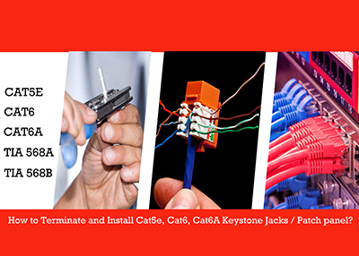 To terminate and install CAT5E/CAT6 Keystone jack and patch panel on yourself, You make insurance a reliable network.