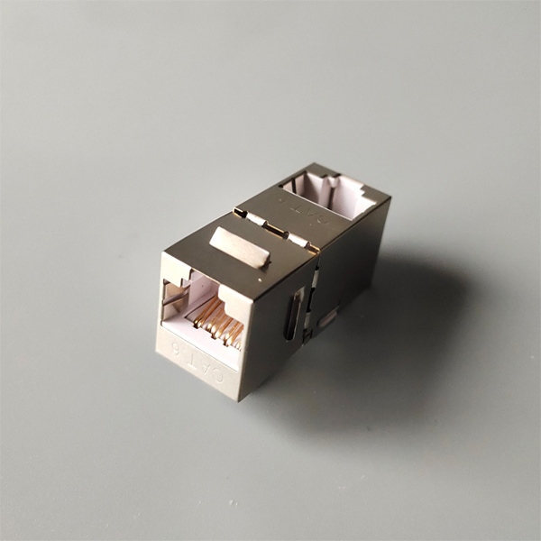 STP Cat6 RJ45 Dual IDC 90 degree keystone jack Featured Image