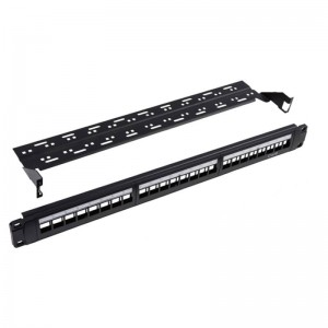 100% Original Black Cat5e Cat6 Cat6a 8 12 24 Port Stp Patch Panel For Rj45 Kestone Jack