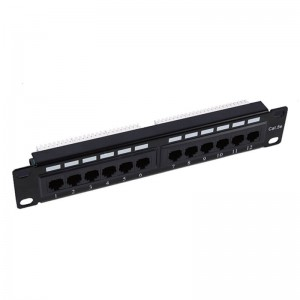 China Manufacturer for Utp/ftp 24-port Cat5e/ Cat6/cat6a Network Patch Panel,Compatible With Cat6 Cabling,1u 19""