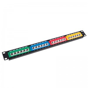 Manufacturer of 24 Port Cat 6 Patch Panel With Back Bar Hm-ppe1