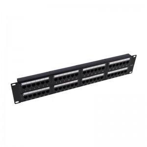 China Supplier 24port Rj45 Unshielded Upt Cat5e 6 Patch Panel