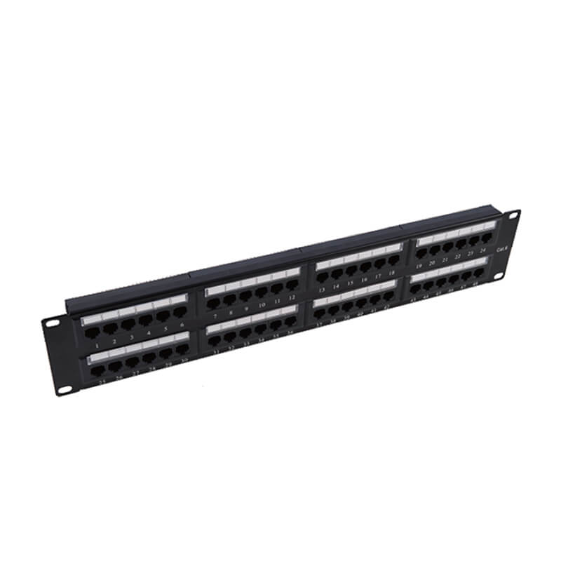 Bottom price 6u Golad Plated 24 Port Rj45 Patch Panel -