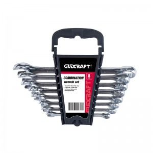 8PCS COMBINATION SPANNER SET SAE, CR-V
