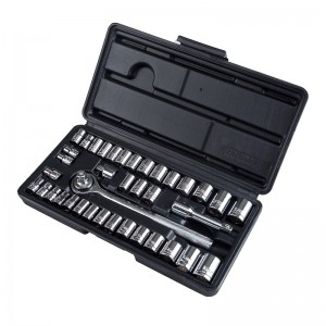 40PC MECHANICS SOCKET SET INCLUDE 1/4-INCH & 3/8-INCH SOCKETS