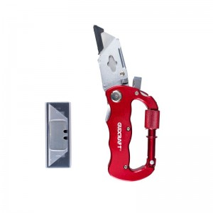 CARABINER MULTITOOL KNIFE WITH FIVE BLADES,REPLACEMENT BLADES INCLUDED,FOLDABLE