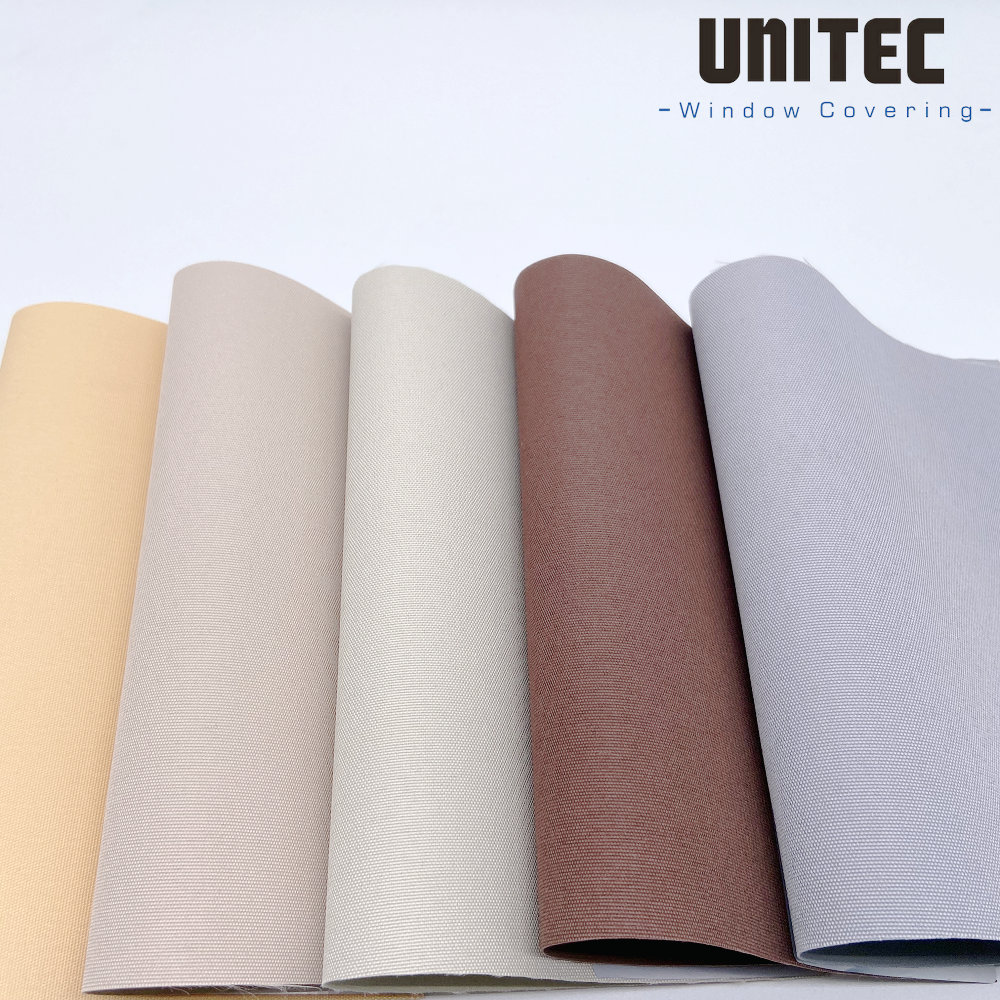 Strong polyester blackout roller blinds fabric URB70 Featured Image