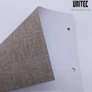 Polyester and linen combined blackout roller blind URB4902