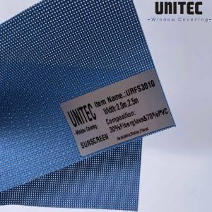 UNITEC's new PVC sunscreen roller blind URFS30 series