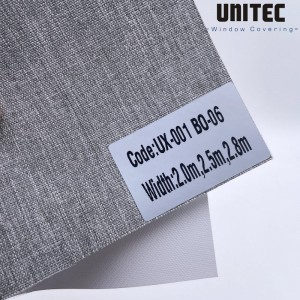 Rough surface polyester blackout roller blind UX-001