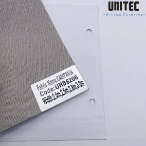 Smooth roller fabric blinds, free of formaldehyde factor URB6206