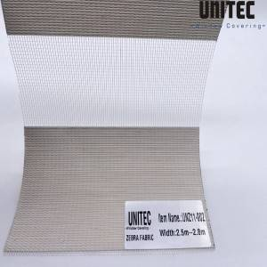 Fashion layered zebra roller blind UNZ11-002