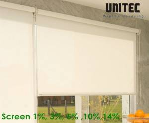 Sunscreen roller blind with 1% opening rate URS12