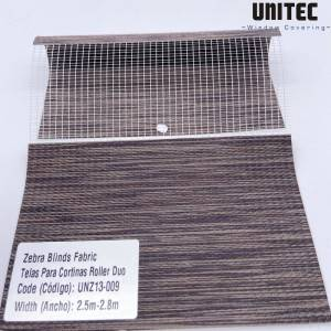 High quality polyester transparent zebra roller blind UNZ13