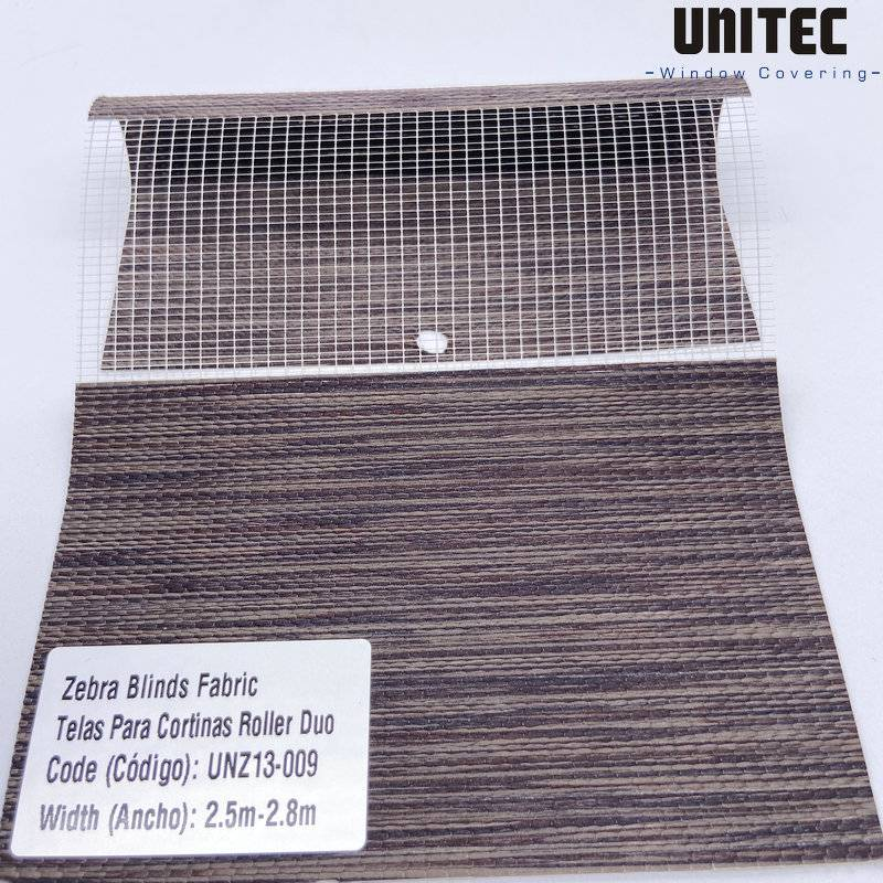 High-quality polyester transparent zebra roller blind UNZ13 Featured Image