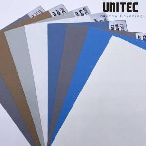 BAY Fabric for Blinds URB60 Roller Blackout White Foam Backing UNITEC-China