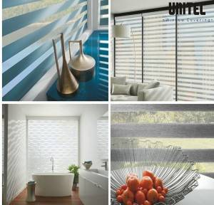 Translucent zebra roller blind with aesthetic effect UNZ14-002