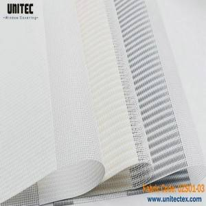 Sunshine fabric zebra roller blind UZS01-001