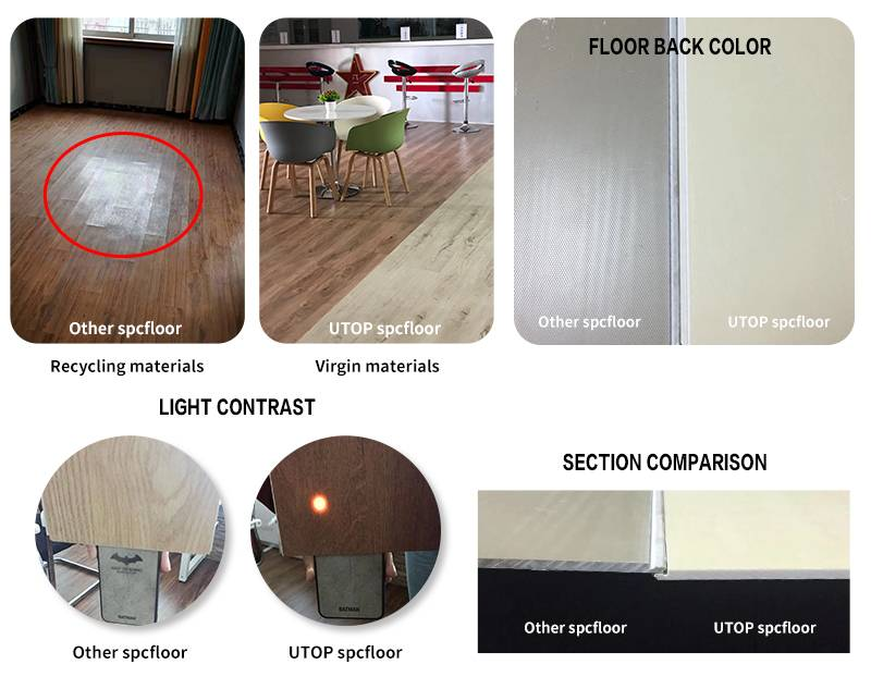 Identified spc flooring whether virgin material