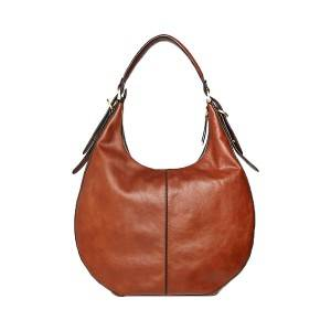PU Leather Zip Detail Hobo Bag