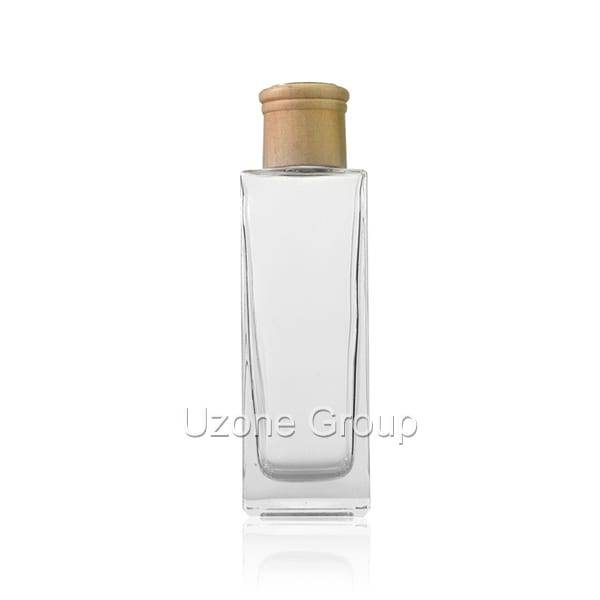 200ml Square Glass Reed Diffuser Bottle With Wooden Cap Featured Image