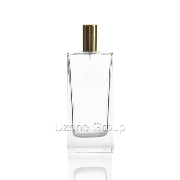 China OEM Glass Cosmetic Container With Bamboo Cap -