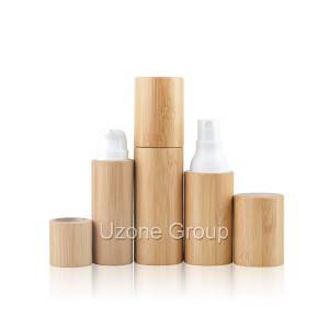 20ml 30ml Plastic spray/lotion bottle with bamboo cover