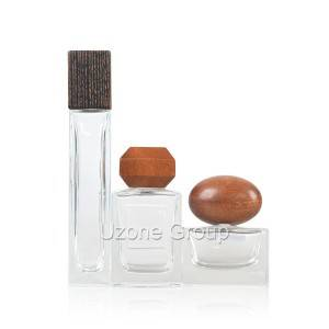 Glass Perfume Bottle With Wooden Cap
