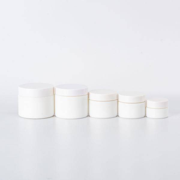 60gram opal white glass jar with ABS lid for cream