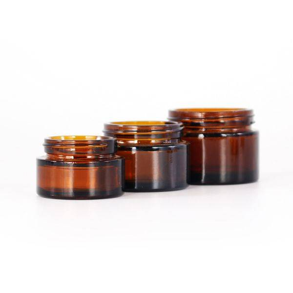30,100,120gram standard amber glass jar for cream