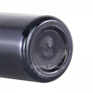 Wholesale dark Violet and opaque black Glass Bottle