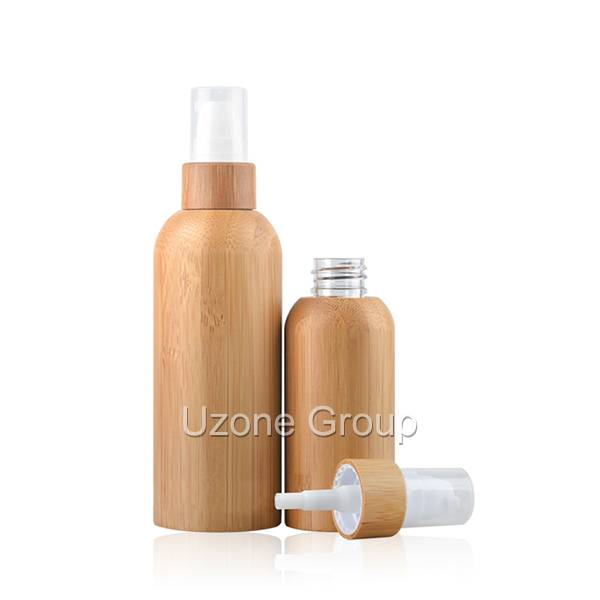 Plastic bottle with bamboo collar sprayer/pump and bamboo cover Featured Image
